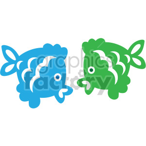 two cartoon fish clipart. Royalty-free image # 407826