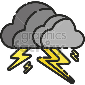 Thunder clipart. Royalty-free icon # 407935