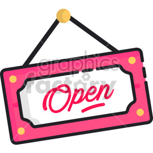 Open Sign clipart. Royalty-free image # 407940