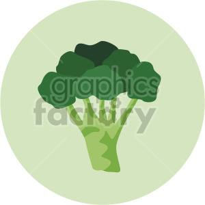 broccoli on circle background clipart. Royalty-free image # 407998