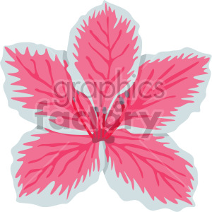azalea flower clipart. Commercial use image # 408048