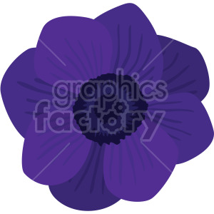 purple Anemone clipart. Commercial use image # 408057
