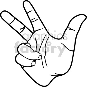 hand signs black white clipart. Royalty-free image # 408090