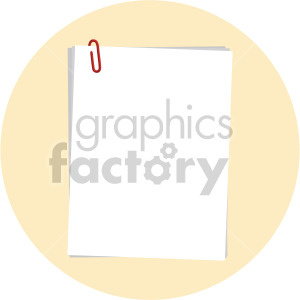 papers on yellow background clipart. Royalty-free image # 408110
