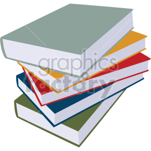 stack of books no background clipart. Royalty-free image # 408112