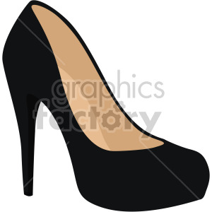womans black pumps heel clipart. Royalty-free image # 408161