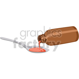 medicine pouring in spoon no background clipart. Commercial use image # 408198