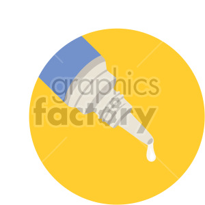 eye dropper on yellow background clipart. Royalty-free image # 408219