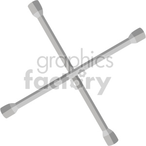 tire lug nut buster wrench clipart. Royalty-free image # 408231