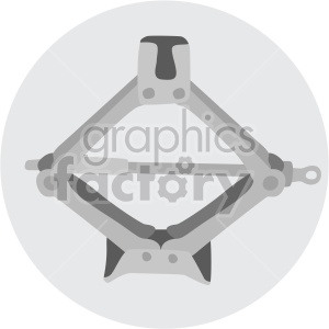 car jack on circle background clipart. Royalty-free image # 408239