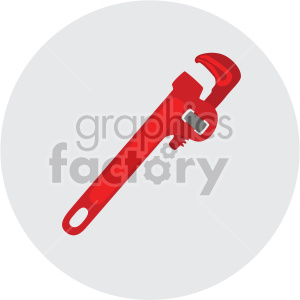 pipe wrench on circle background clipart. Royalty-free image # 408261