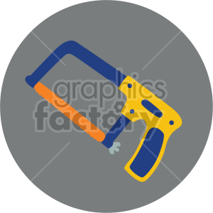 hacksaw on circle background clipart. Commercial use image # 408277