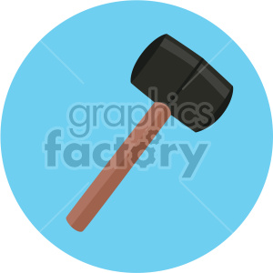 rubber mallet on circle background clipart. Royalty-free image # 408278