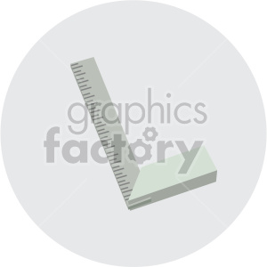 measuring square on circle background clipart. Commercial use image # 408294