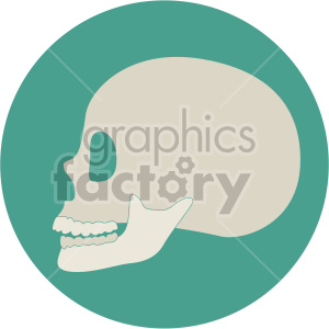 skull profile on circle background clipart. Royalty-free image # 408364