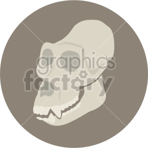 gorilla skull on circle background clipart. Royalty-free image # 408367