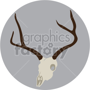 elk skull on circle background