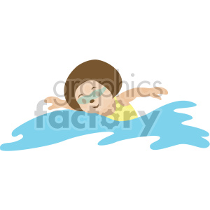 female swimming clipart. Royalty-free image # 408408