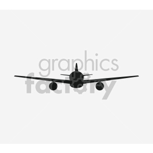 outline front view airplane clipart. Commercial use image # 408434