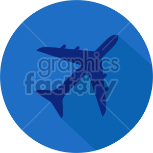 commercial airplane icon blue background