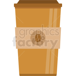 coffee cup vector clipart. Commercial use image # 408447