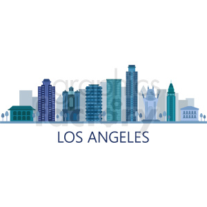 downtown los angeles vector clipart. Royalty-free image # 408504