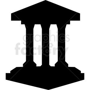 black museum building vector icon no background clipart. Commercial use image # 408512