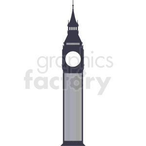 big ben vector no background clipart. Commercial use image # 408524
