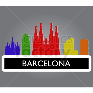 barcelona spain vector clipart. Royalty-free image # 408569