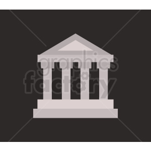 museum vector icon clipart. Commercial use image # 408579