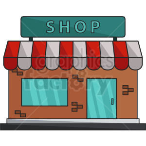 vector storefront icon clipart. Royalty-free image # 408614