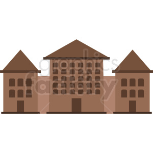 university housing vector icon design clipart. Royalty-free image # 408619