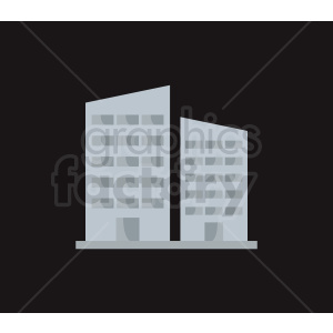 vector city building on dark background