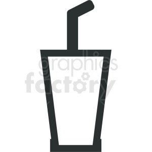 cup with straw outline clipart. Royalty-free image # 408659