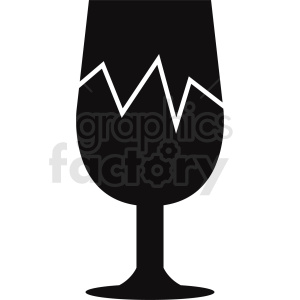 cracked wine glass design clipart. Commercial use image # 408662