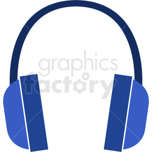 blue headphones icon clipart. Commercial use image # 408706