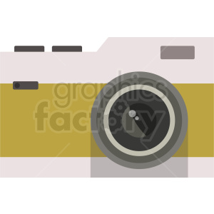 vector old camera flat icon clipart. Royalty-free image # 408710