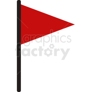 red flag marker clipart. Royalty-free image # 408759