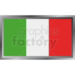 italy flag emblem design clipart. Royalty-free image # 408767