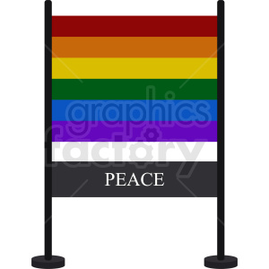 rainbow peace banner clipart. Commercial use image # 408797