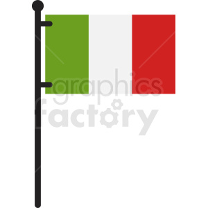 italian flag flat icon clipart. Commercial use image # 408824