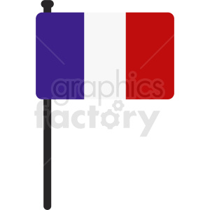 french flag icon with rounded corners clipart. Royalty-free image # 408832