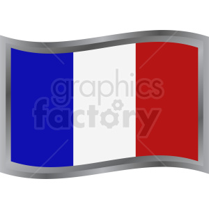 french flag label clipart. Royalty-free image # 408837