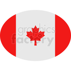 canada oval icon clipart. Royalty-free image # 408857