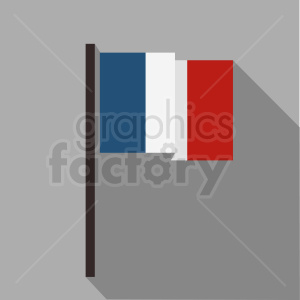 french flag on square background clipart. Royalty-free image # 408872