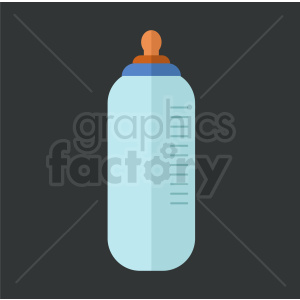 baby bottle icon on dark background clipart. Royalty-free image # 408877