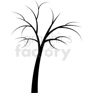 vector tree with no leaves
