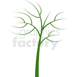 green tree design without leaves clipart. Royalty-free image # 408922