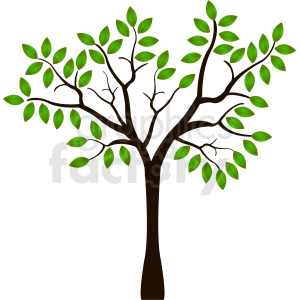single tree design clipart. Royalty-free image # 408932