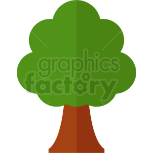 cartoon vector tree clipart. Royalty-free image # 408937